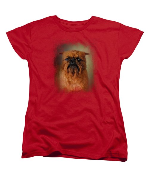 The Brussels Griffon Women's T-Shirt (Standard Cut) by Jai Johnson