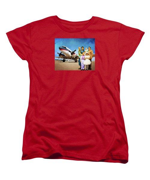 The California Family Women's T-Shirt (Standard Cut) by Timothy Bulone