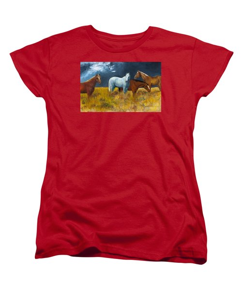 The Calm After The Storm Women's T-Shirt (Standard Cut) by Frances Marino