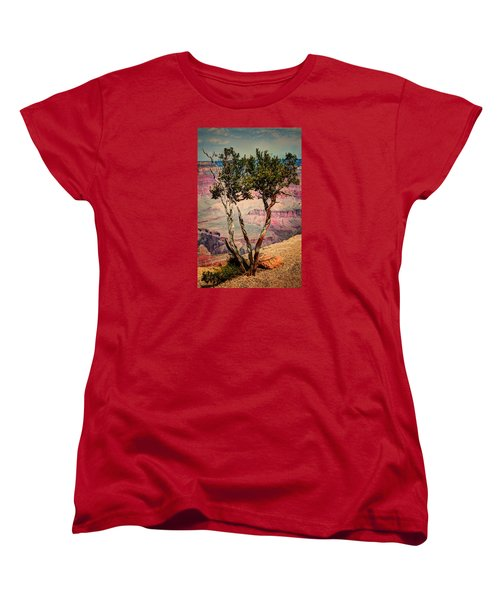 Women's T-Shirt (Standard Cut) featuring the photograph The Canyon Tree by Tom Prendergast