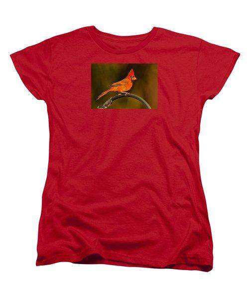 Women's T-Shirt (Standard Cut) featuring the photograph The Cardinal by Don Durfee