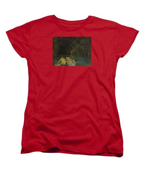 The Cavern Women's T-Shirt (Standard Cut) by Henry Scott Tuke