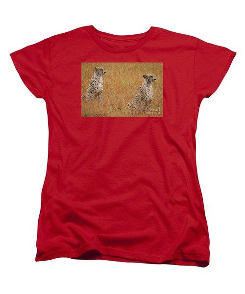 The Cheetahs Women's T-Shirt (Standard Cut) by Nichola Denny