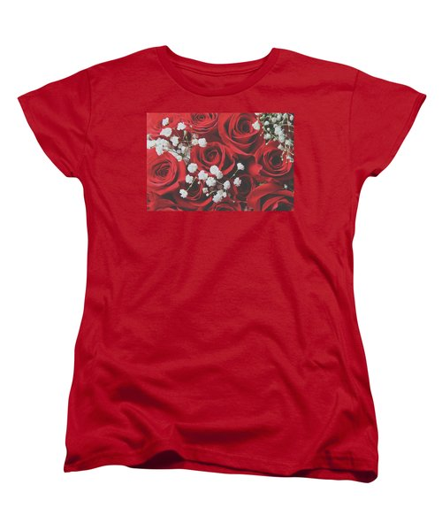 Women's T-Shirt (Standard Cut) featuring the photograph The Color Of Love by Laurie Search