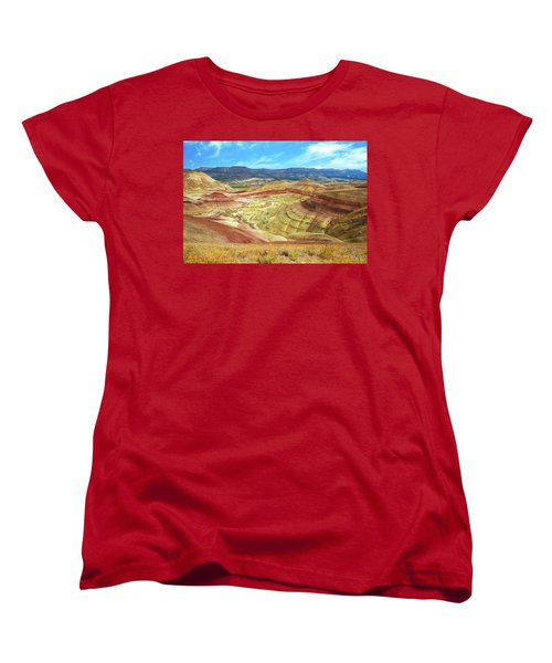 The Colorful Painted Hills In Eastern Oregon Women's T-Shirt (Standard Fit)