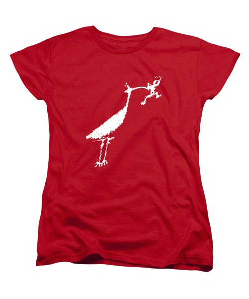 The Crane Women's T-Shirt (Standard Cut) by Melany Sarafis