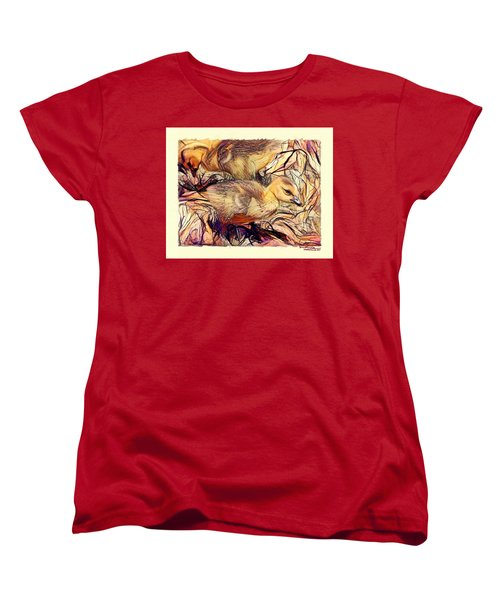 The Critic Women's T-Shirt (Standard Cut) by Ludwig Keck