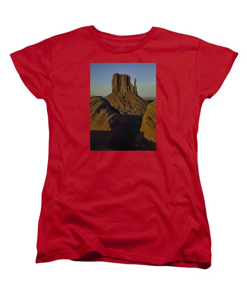 The Earth Says Hello Women's T-Shirt (Standard Cut) by Rob Wilson