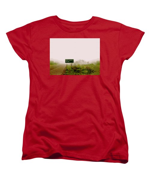 The End Of The Earth Women's T-Shirt (Standard Cut) by Sam Sidders