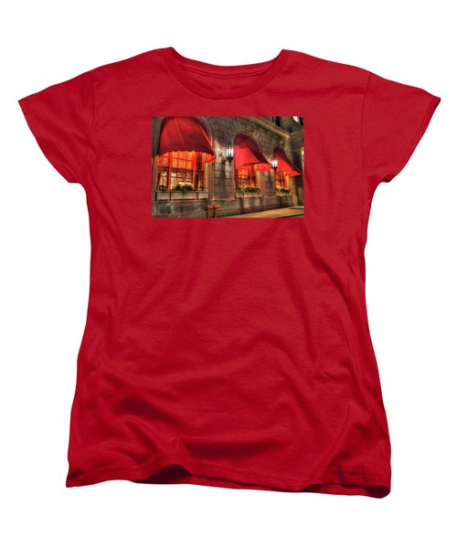 Women's T-Shirt (Standard Cut) featuring the photograph The Fairmont Copley Plaza Hotel - Boston by Joann Vitali