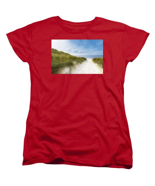 The First Look At The Sea Women's T-Shirt (Standard Cut) by Hannes Cmarits