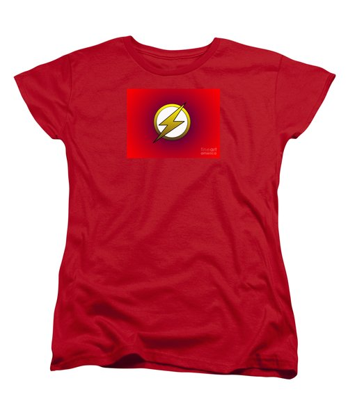 The Flash  Women's T-Shirt (Standard Cut) by Justin Moore