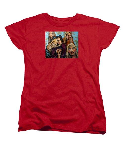 The Folk Singer Women's T-Shirt (Standard Cut) by Barbara O'Toole