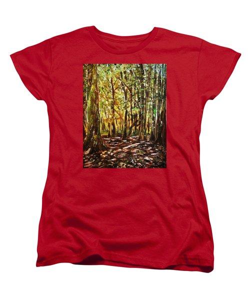 La Foret Du Mount Beuvray Women's T-Shirt (Standard Cut) by Belinda Low
