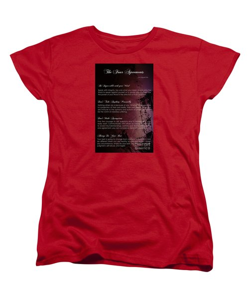 The Four Agreements 3 Women's T-Shirt (Standard Cut) by Andrea Anderegg