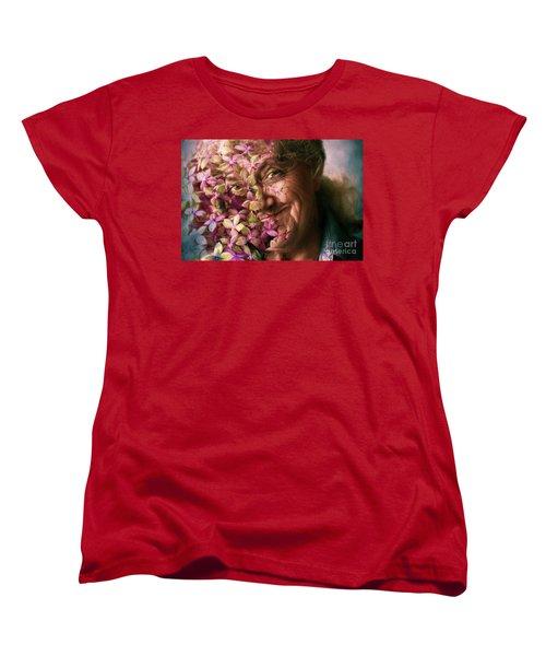 The Gardener Women's T-Shirt (Standard Cut) by Jean OKeeffe Macro Abundance Art