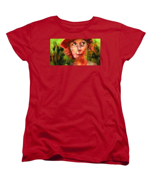 Women's T-Shirt (Standard Cut) featuring the painting The Happy Gardener by Jim Vance