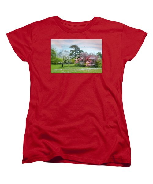 Women's T-Shirt (Standard Cut) featuring the photograph The Hidden Garden by Diana Angstadt