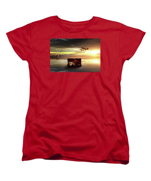 Women's T-Shirt (Standard Cut) featuring the digital art The Journey Begins  by Nathan Wright