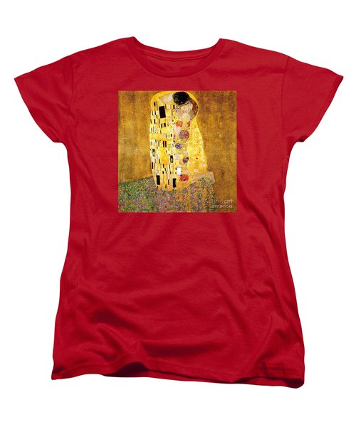 The Kiss Women's T-Shirt (Standard Cut) by Klimt