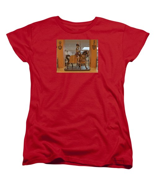 Women's T-Shirt (Standard Cut) featuring the photograph The Knight On Horseback by Mark Dodd