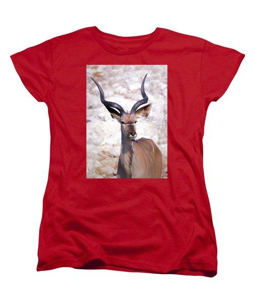 The Kudu Portrait 2 Women's T-Shirt (Standard Cut) by Ernie Echols