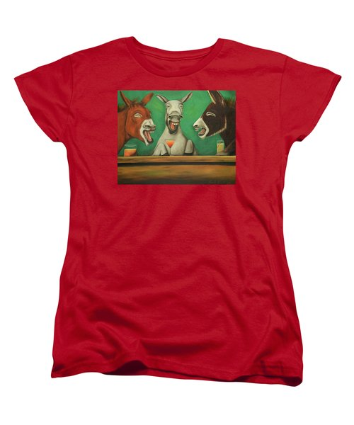 The Laughing Donkeys Women's T-Shirt (Standard Cut) by Leah Saulnier The Painting Maniac