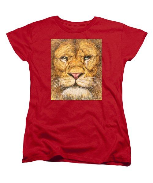 The Lion Roar Of Freedom Women's T-Shirt (Standard Cut) by Kent Chua