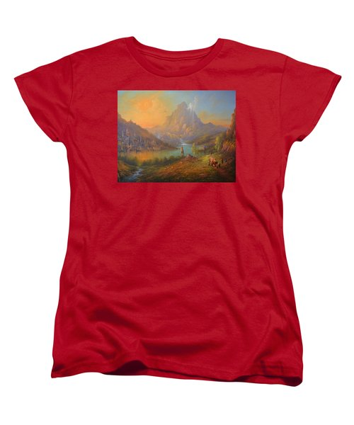The Lonely Mountain Smaug Women's T-Shirt (Standard Cut) by Joe  Gilronan