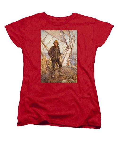 The Lookout Man  Women's T-Shirt (Standard Cut) by Henry Scott Tuke