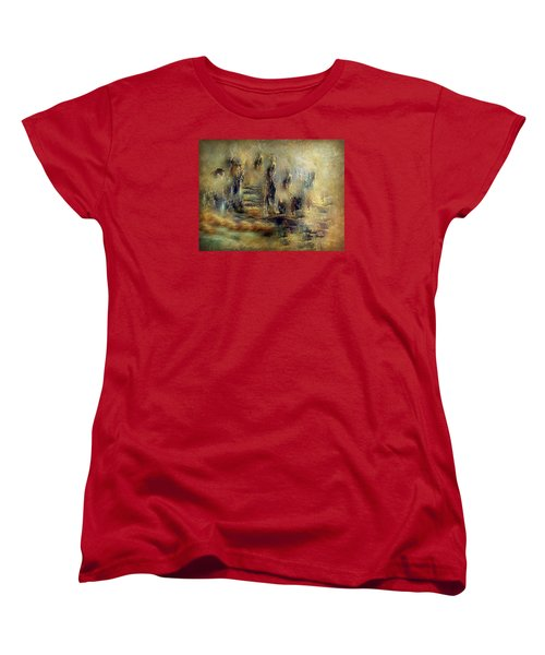 Women's T-Shirt (Standard Cut) featuring the painting The Lost City By Sherriofpalmsprings by Sherri  Of Palm Springs