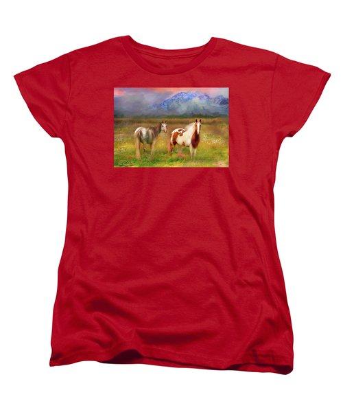 The Majestic Pasture Women's T-Shirt (Standard Cut) by Kari Nanstad