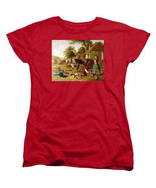 The Market Cart Women's T-Shirt (Standard Cut) by Henry Charles Bryant