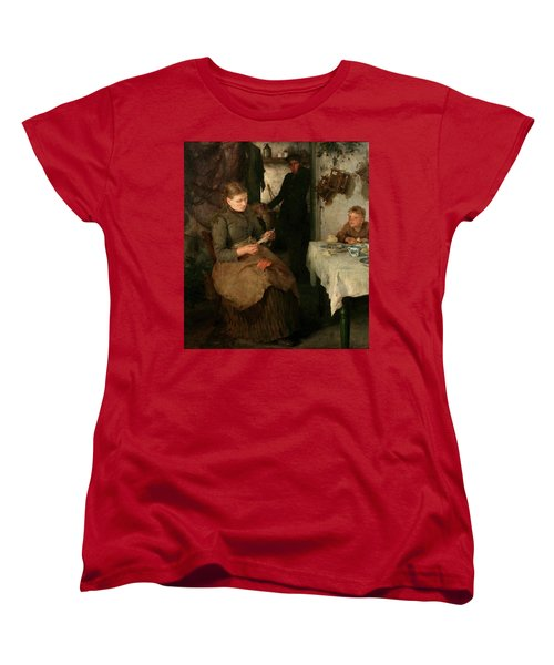 Women's T-Shirt (Standard Cut) featuring the painting The Message by Henry Scott Tuke