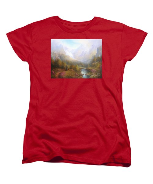 The Misty Mountains Women's T-Shirt (Standard Cut) by Joe  Gilronan