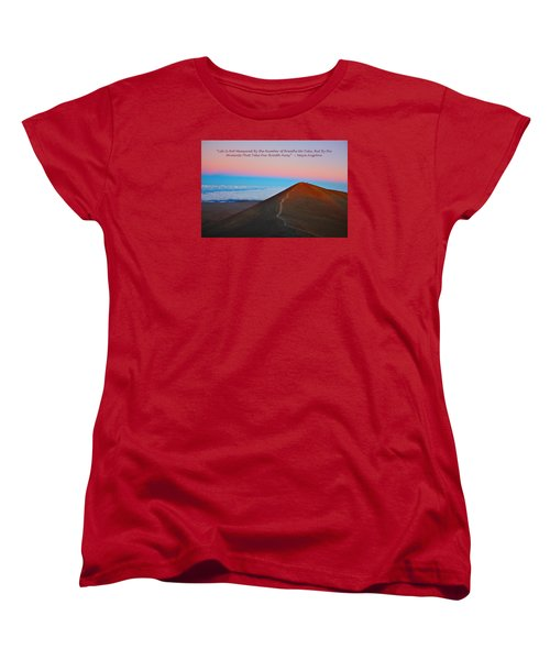 The Moments That Take Our Breath Away Women's T-Shirt (Standard Cut) by Venetia Featherstone-Witty