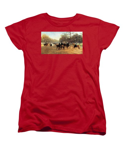 The Morning Ride Rotten Row Hyde Park Women's T-Shirt (Standard Cut) by Heywood Hardy