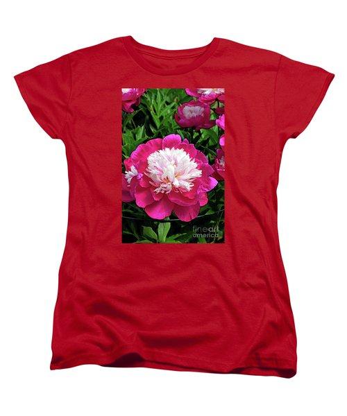 The Most Beautiful Peony Women's T-Shirt (Standard Cut) by Eva Kaufman