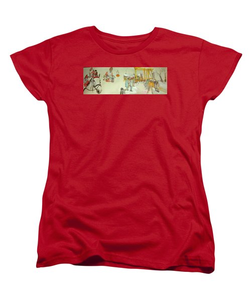 the Netherlands scroll Women's T-Shirt (Standard Cut) by Debbi Saccomanno Chan