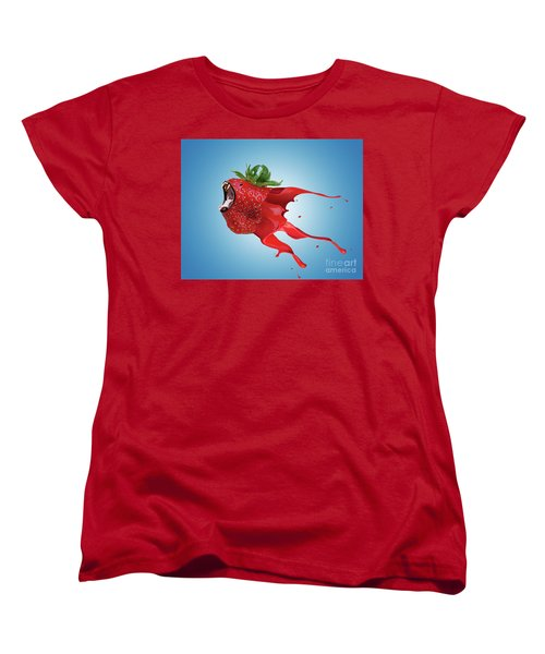 Women's T-Shirt (Standard Cut) featuring the photograph The New Gmo Strawberry by Juli Scalzi