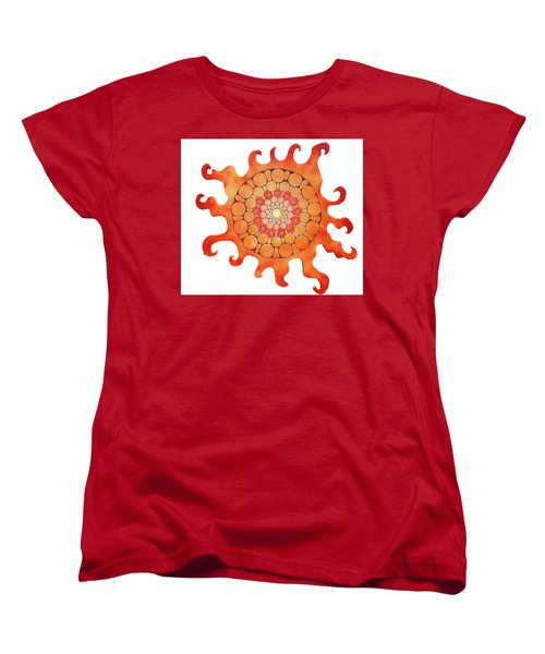 Women's T-Shirt (Standard Cut) featuring the painting The New Sun by Patricia Arroyo