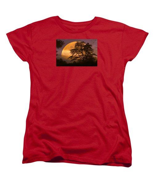 The Night Is Calling Women's T-Shirt (Standard Cut) by John Rivera