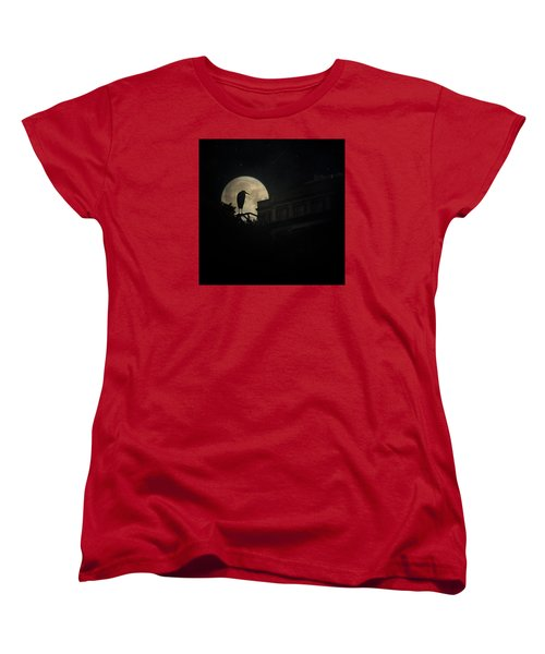Women's T-Shirt (Standard Cut) featuring the photograph The Night Of The Heron by Chris Lord
