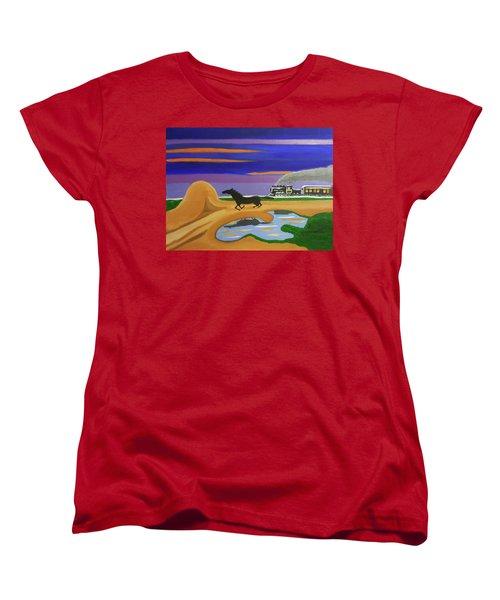The Night Race Women's T-Shirt (Standard Cut) by Margaret Harmon