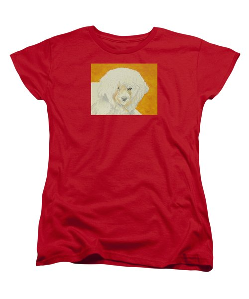 The Old Poodle Women's T-Shirt (Standard Cut) by Hilda and Jose Garrancho