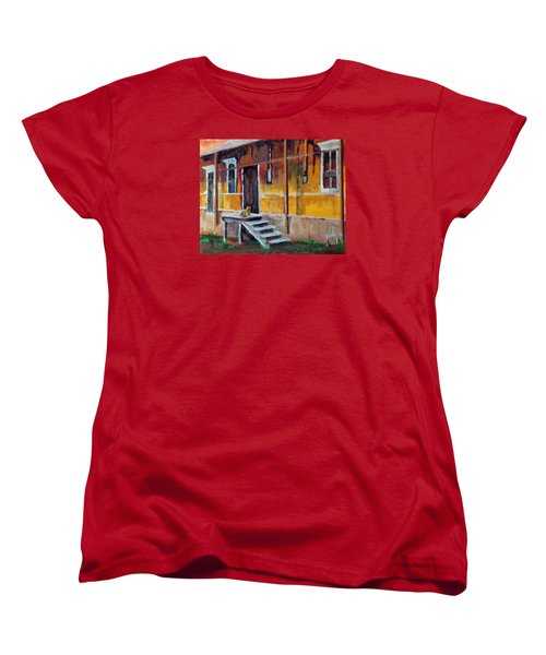The Old Warehouse Women's T-Shirt (Standard Cut) by Jim Phillips