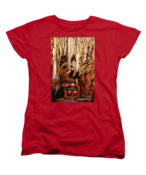 Women's T-Shirt (Standard Cut) featuring the photograph The Organ In The Cavern by Paul Ward
