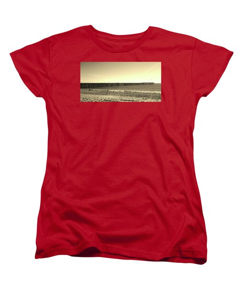 The Pier Women's T-Shirt (Standard Cut) by Mary Ellen Frazee