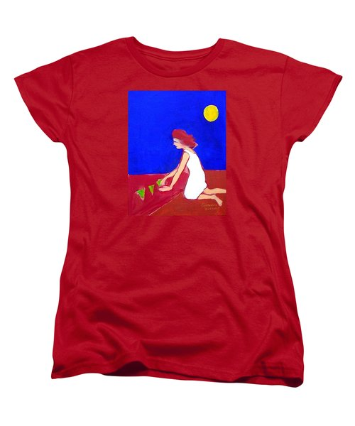 Women's T-Shirt (Standard Cut) featuring the painting The Planting by Winsome Gunning