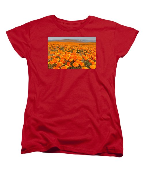 The Poppy Fields - Antelope Valley Women's T-Shirt (Standard Cut) by Peter Tellone